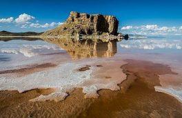 وسعت دریاچه ارومیه ۲۲ کیلومترمربع کم شد