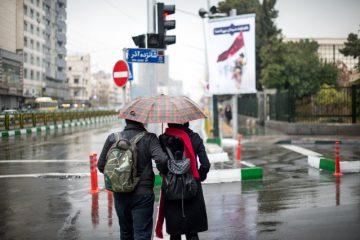 بارش باران در استان مازندران شدت گرفت