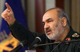 خط و نشان سردار سلامی برای آمریکا/هیچ قدرتی قادر به شکست ملت ایران نیست