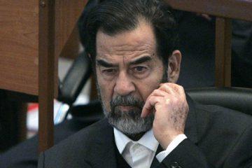 تصویر صدام در حرم امام رضا(ع)