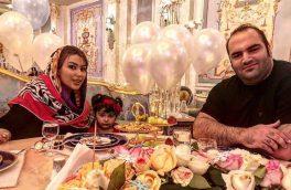 شام پر از احساس و رنگارنگ قهرمان ایرانی و همسرش + عکس