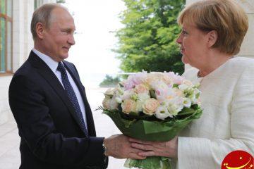 پشت پرده گل پرحاشیه ای که پوتین به مرکل داد! +عکس