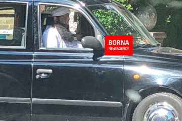فردی شبیه بن لادن در خیابان های لندن + عکس