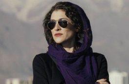 ژست هنری و لباس خاص خانم بازیگر در کنار بهرام افشاری/ تصویر