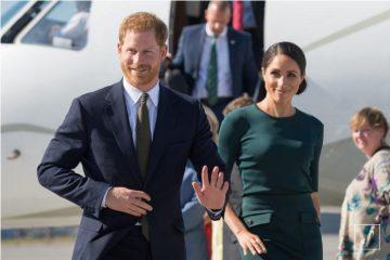 اولین سفر خارجی شاهزاده هری و همسرش+ عکس