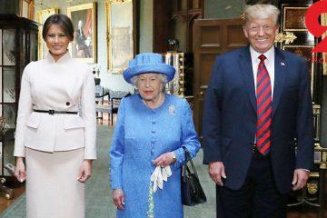 انتقام ملکه انگلیس از رفتارهای تحقیر آمیز ترامپ+ عکس