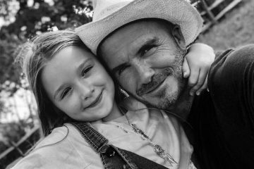 دیوید بکهام با دخترش + عکس