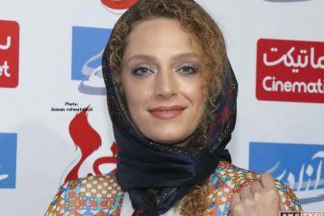 تیپ و لباس زیبای خانم بازیگر در اکران خصوصی / تصویر
