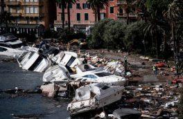 طوفان شدیدی که بنادر ایتالیا را اینگونه به هم ریخت/ تصاویر