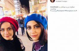 شب گردی خواهران بازیگر ایرانی در بوداپست/تصویر