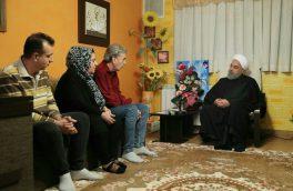 دیدار روحانی با خانواده شهید و جانباز ارمنی