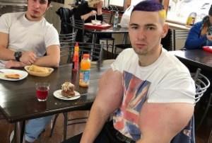 فیزیک عجیب ورزشکار روس با داروی ممنوعه/ تصویر