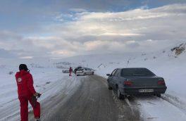 ریزش کوه در جاده چالوس خودروها را به این روز درآورد/تصویر