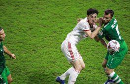لحظه خطای پنالتی که داور در بازی عراق و ایران ندید!/تصویر