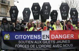 شنبه ناآرام فرانسه ادامه دار است/ تصاویر