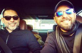 تصویری از رفاقت دو ستاره سینمای ایران با فرهاد مجیدی