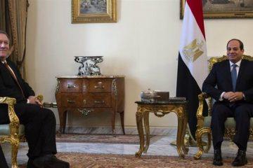 دیدار پامپئو با سیسی در قاهره