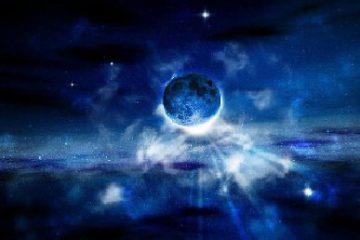 همنشینی ماه و ستاره در غروب امروز