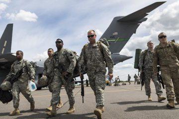 اسکادران هوایی آمریکا در راه عربستان