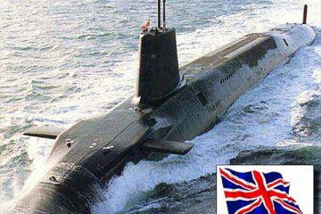 زیردریایی هسته ای انگلستان در راه خلیج فارس